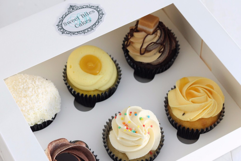 Online shop mixed 6 cupcake box