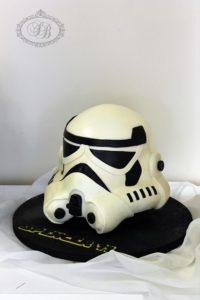 Storm Trooper Helmet Cake