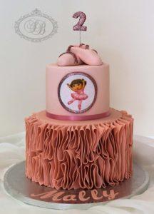 Dora Ballerina Cake