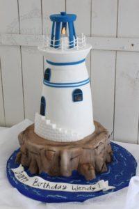 3D lighthouse cake