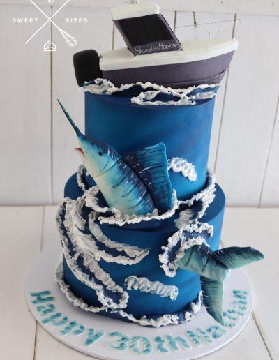 sword fish sail fishing ocean sea cake