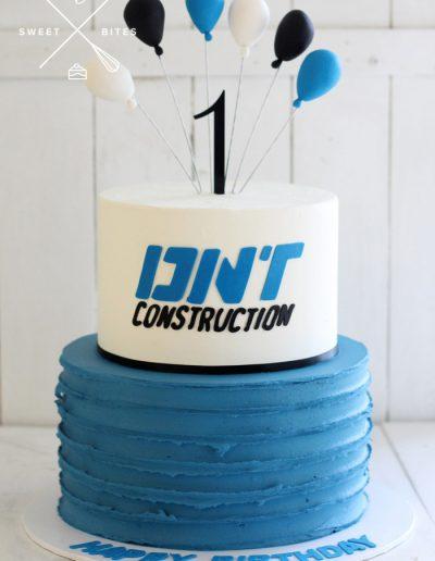 dnt onstruction blue black cake 1 birthday corporate