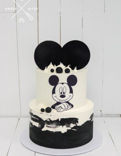 mickey mouse black white disney cake