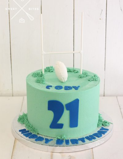 rugby league union goal post 21st birthday cake