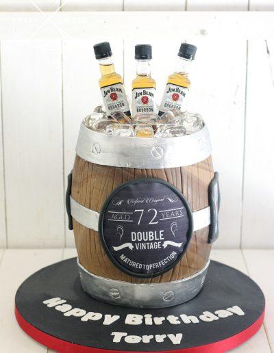 beer barrel 3d vintage jim beam bourbon cake