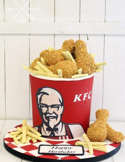 3d kfc bucket chicken chips cake