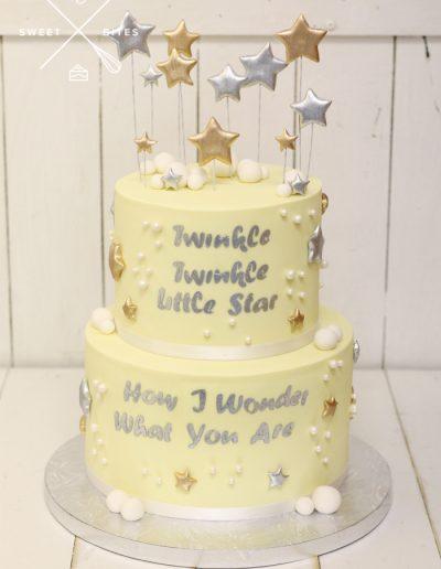 twinkle twinkle baby shower gender reveal cake