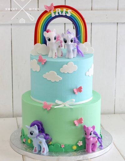 my little pony rainbow cake