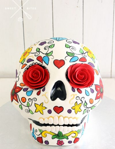 cinco de mayo festival halloween mexican 3d floral skull cake