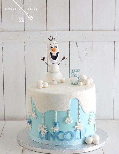 olaf frozen cake 5th birthday