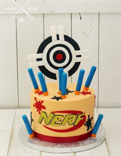 nerf gun bullet cake