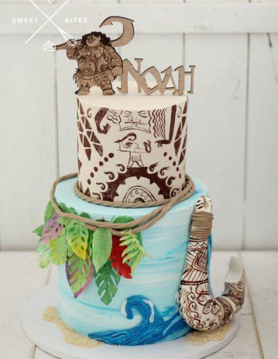 moana maui disney sea theme cake hook 2 tier