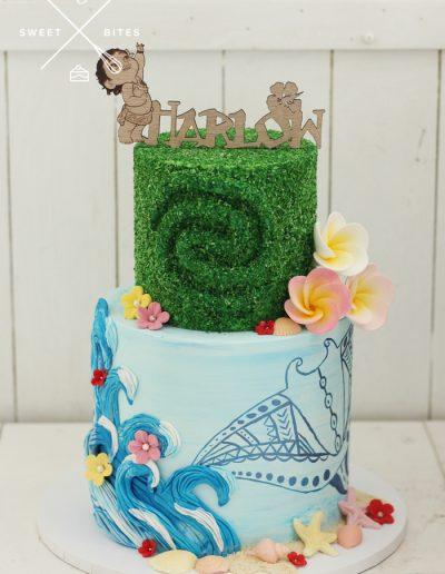 disney moana sea cake 2 tier