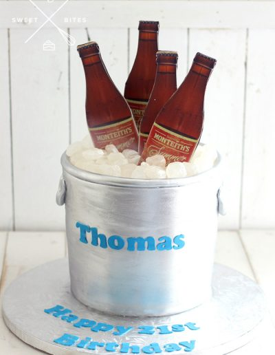 monteiths beer pale ice bucket cake 21st birthday