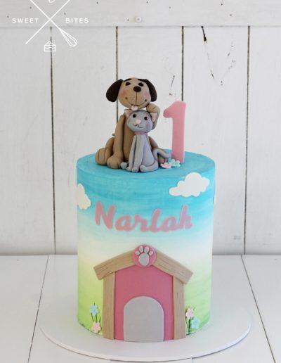 1st birthday cake cat dog pets