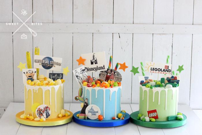 disneylan universal minion lego cake