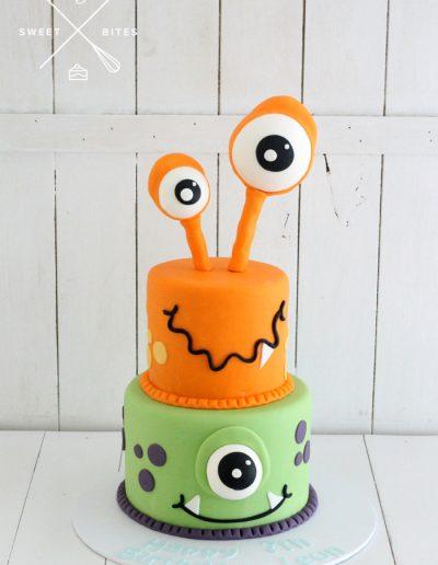 monsters cake 2 tier