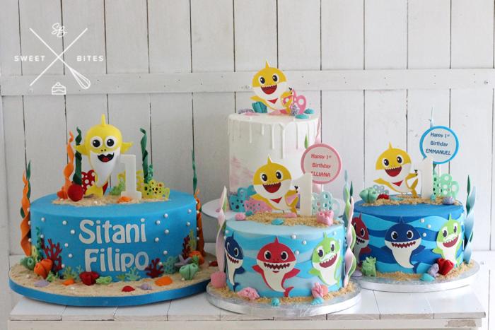 baby shark cake 1st birthday under the sea ocean