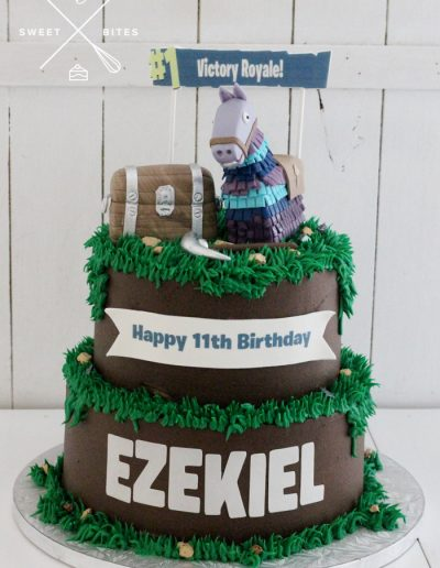 fortnite victory royale llama cake 2 tier