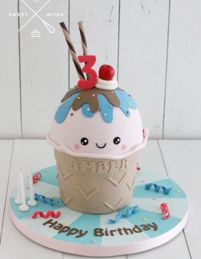 ice cream sundae 3d cake