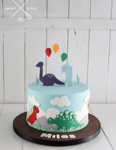 2d dinosaur cake cute 1st birthday