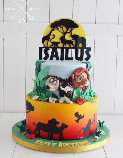 hakuna matata lion king cake 2 tier