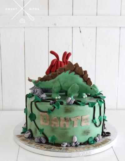 dinosaur volcano stegosaurus cake