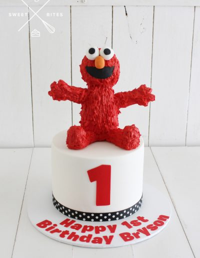 elmo sesame street cake 3d 1st birthday