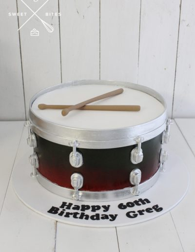 marching band snare drum 3d cake