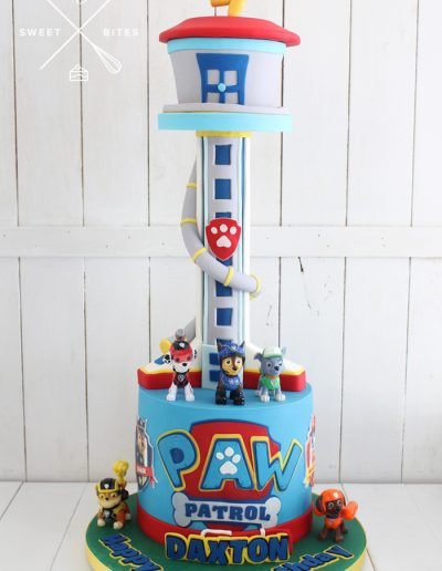 paw patrol lookout tower cake 3d