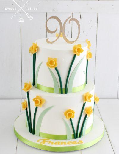 daffodil cake 90th birthday
