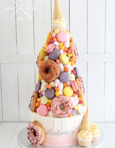 donut tower candy icecream cone overload