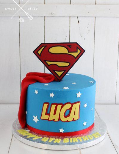 superman superhero cake cape