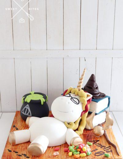 harry potter 3d unicorn cake wizard witch
