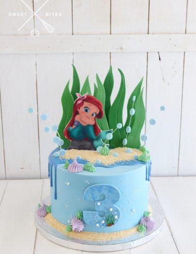 little mermaid ariel sea cake ocean