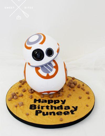 3d bb8 star wars cake