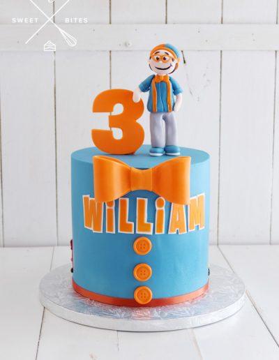 blippi bow tie cake 3rd birthday