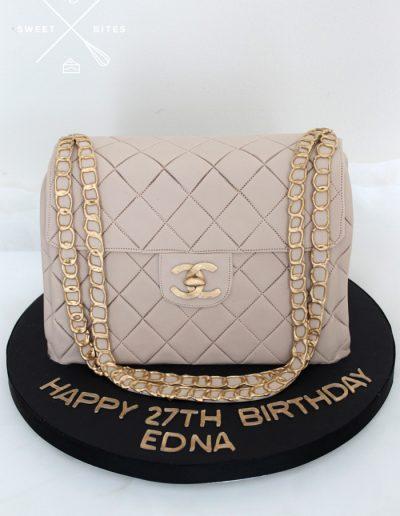 chanel 3d handbag luxury designer cake