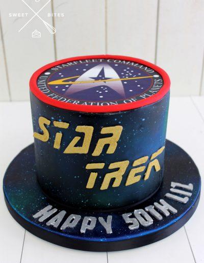star trek 50th birthday cake galaxy