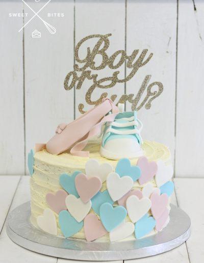 gender reveal baby shower cake