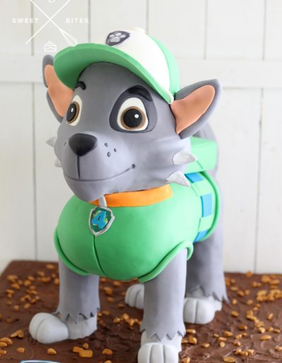 3d paw patrol dog rocky cake