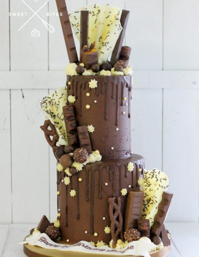 chocolate overload sails mixed choc assorted 2 tier