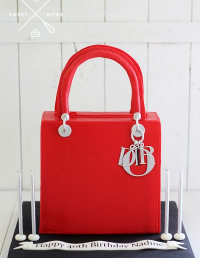 dior luxury handbag 3d designer cake