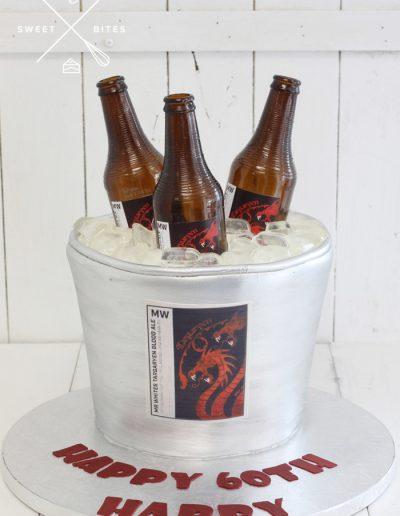 ice bucket of beers pale 3d cake