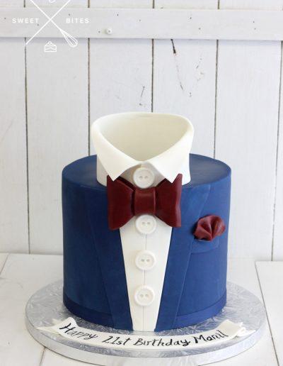 bow tie tuxedo cake 21st birthday