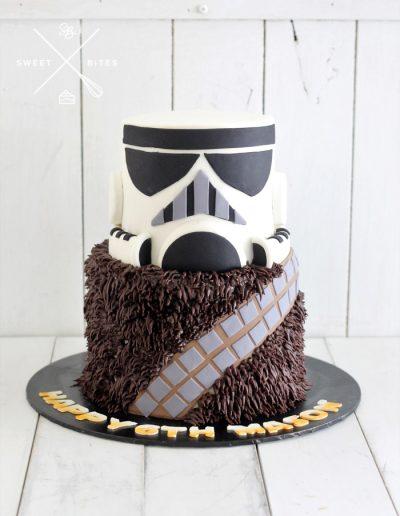 starwars chewbacca stormtrooper cake