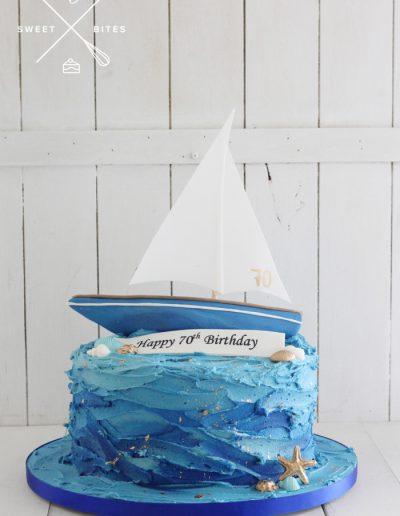 sailing sailboat yacht ocean sea cake