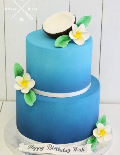 tropical coconut island cake