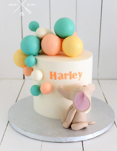 baby elephant cake choc spheres cute