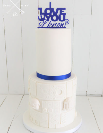simple star wars wedding cake subtle